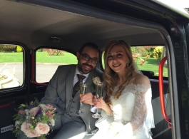 Black London Taxi for weddings in Bristol